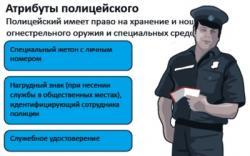 Атрибуты полицейского