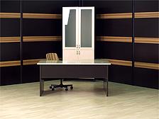 Офисный стол и стеновые панели